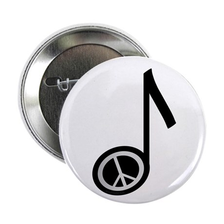 "Peace note 2.25"" Button (10 pack)"