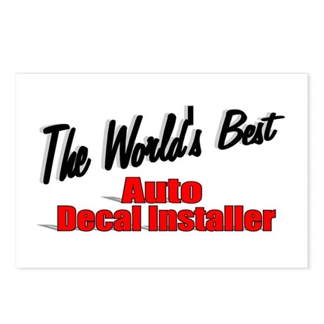 """The World's Best Auto Decal Installer"" Postcards"