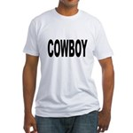 Cowboy (Front) Fitted T-Shirt