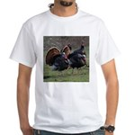 Four Gobblers White T-Shirt
