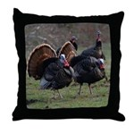 Four Gobblers Throw Pillow