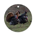 Four Gobblers Ornament (Round)