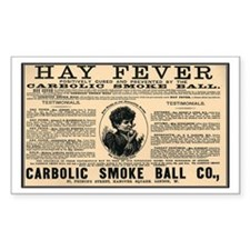 Carbolic Smoke Ball Rectangle Decal