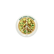 Give Pizza Chance Mini Button