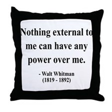 Walter Whitman 6 Throw Pillow