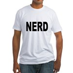 Nerd (Front) Fitted T-Shirt