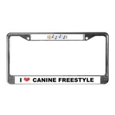 CANINE FREESTYLE  License Plate Frame