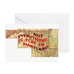 Flat Maryland Greeting Cards (Pk of 10)