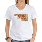Flat Maryland Women's V-Neck T-Shirt