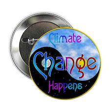 """Climate Change Happens 2.25"""" Button"""