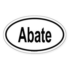 ABATE Oval Decal