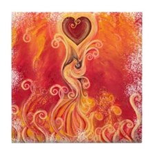 PHOENIX RISING Tile Coaster