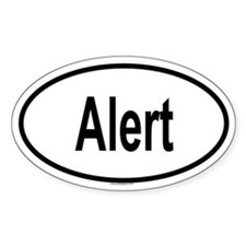 ALERT Oval Decal