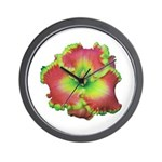 Pink w/ Green Edge Daylily Wall Clock