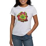 Pink w/ Green Edge Daylily Women's T-Shirt