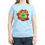 Pink w/ Green Edge Daylily Women's Light T-Shirt
