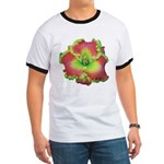 Pink w/ Green Edge Daylily Ringer T