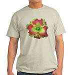 Pink w/ Green Edge Daylily Light T-Shirt