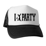 I Party Penquin Trucker Hat