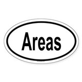 AREAS Oval Decal