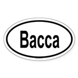 BACCA Oval Decal