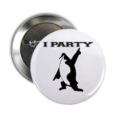 I Party Penquin Button