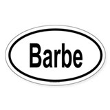 BARBE Oval Decal