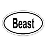 BEAST Oval Decal