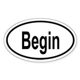 BEGIN Oval Decal