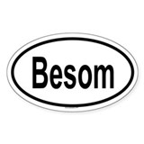 BESOM Oval Decal