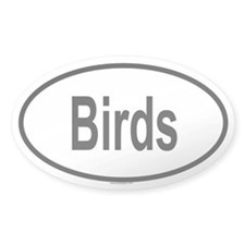 BIRDS Oval Decal