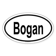 BOGAN Oval Decal