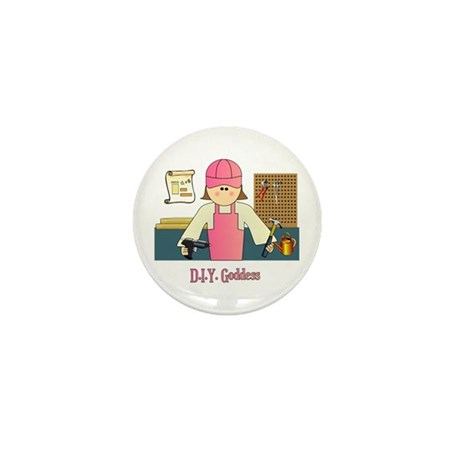 D.I.Y. Do It Yourself Goddess Mini Button