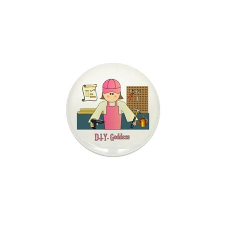 D.I.Y. Do It Yourself Goddess Mini Button (10 pack