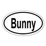 BUNNY Oval Decal