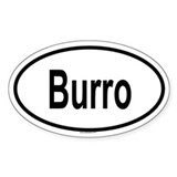 BURRO Oval Decal