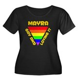 Mayra Gay Pride (#009) Women's Plus Size Scoop Nec