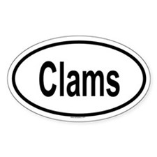 CLAMS Oval Decal