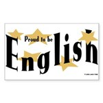 English Rectangle Sticker