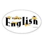 English Oval Sticker