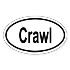 CRAWL Oval Decal