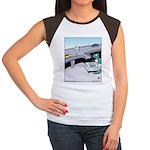 Dinosaur Food Exit Women's Cap Sleeve T-Shirt