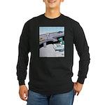 Dinosaur Food Exit Long Sleeve Dark T-Shirt