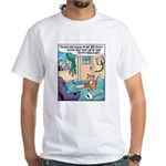 Cat Chainsaw White T-Shirt