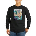 Cat Chainsaw Long Sleeve Dark T-Shirt