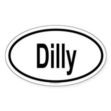 DILLY Oval Decal