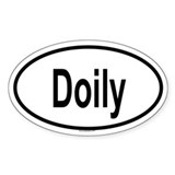 DOILY Oval Decal