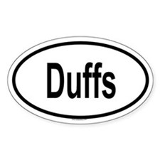 DUFFS Oval Decal