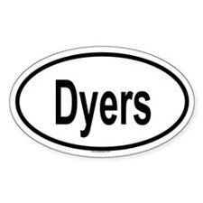 DYERS Oval Decal