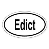 EDICT Oval Decal